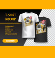 t-shirt template fully editable with truck and vector image vector image