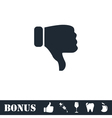 Thumbs down icon flat vector image