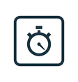 timer icon Rounded squares button vector image vector image