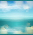 tropical sea sunset beach background vector image
