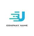 u speed letter logo icon design vector image vector image
