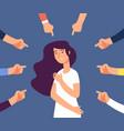 victim women depressed girl in shame and hands vector image