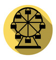 ferris wheel sign flat black icon with vector image
