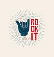 rock it logo design rockl vector image