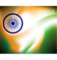 Abstract image of Indian flag holiday people vector image vector image