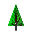 abstract watercolor green pine tree vector image vector image