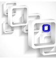 Abstract White Squares vector image