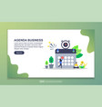 agenda business concept with tiny people vector image