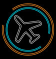 airplane icon - travel icon - fly flight symbol vector image