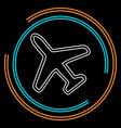 airplane icon - travel icon - fly flight symbol vector image
