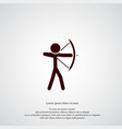 archer icon simple sportsman element game symbol vector image
