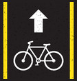 bicycle road sign and arrow vector image