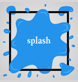 big blue splash with lots of small splashes vector image vector image