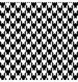 black houndstooth pattern classical vector image vector image