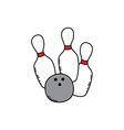 Bowling cartoon icon theme