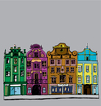 buildings colorful vector image vector image
