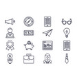 business startup success icons set thick line vector image
