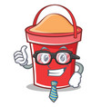 businessman bucket character cartoon style vector image vector image