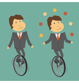 clerk unicycle vector image vector image