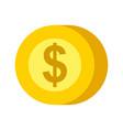 coin dollar money cash payment mobile button vector image