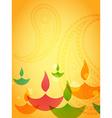 coloful diwali design vector image vector image