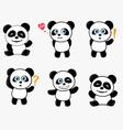 Cute Panda Mascot vector image