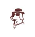 dog dollar logo icon concept design vector image