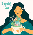 earth day template for different uses vector image