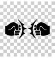 Fist Fight Icon vector image