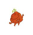 flat poop dancing vector image