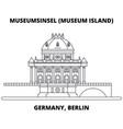 germany berlin museum island line icon concept vector image vector image