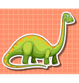 Green dinosaur with long neck vector image vector image