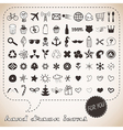 Hand drawn icons set for You vector image vector image