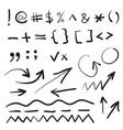hand written marker pen signs vector image vector image