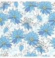 Heavenly flowers seamless pattern background vector image