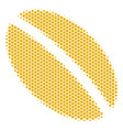 hexagon halftone wheat seed icon vector image