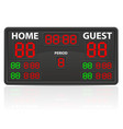 hockey sports digital scoreboard vector image vector image