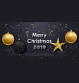 horizontal banner with christmas ball vector image