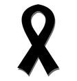 icon mourning ribbon vector image vector image