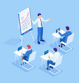 isometric business training concept group of vector image vector image