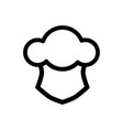 kitchen hat icon cooking line icon vector image vector image