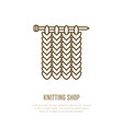 knitting icon in modern flat line style vector image