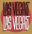 las vegas nevada usa hand drawn lettering vector image vector image