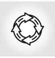 line arrow circle icon vector image vector image