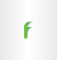 logo f green letter f icon sign design vector image vector image