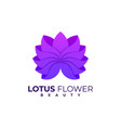 logo lotus gradient colorful style vector image