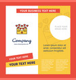 love letter company brochure template busienss vector image