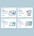 medical consultation landing pages online doctor vector image