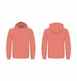 mens red hoodie vector image