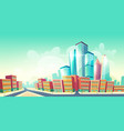 modern city development cartoon concept vector image vector image